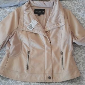 NWT Forever 21 champagne pink jacket
